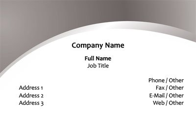 Silver and White Business Card Template